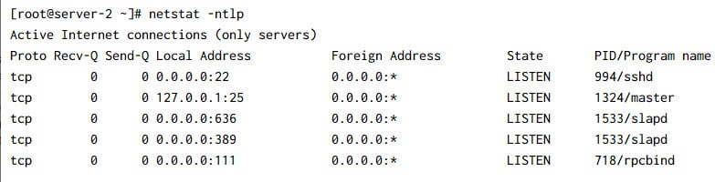 Check open ports in Linux   Test firewall rules