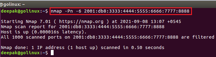 nmap command to treat all hosts as online