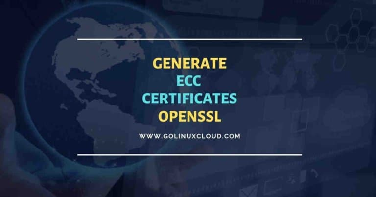 OpenSSL: Generate ECC certificate & verify on Apache server
