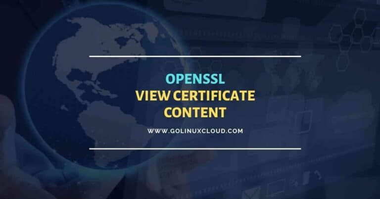 Useful openssl commands to view certificate content