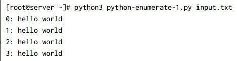 5 simple examples to learn python enumerate() function