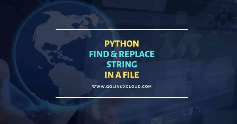 4 practical examples - Python string replace in file