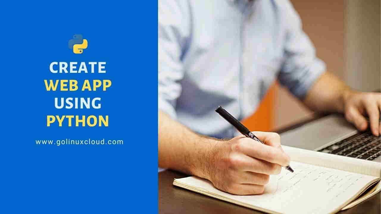 Steps to Create Python Web App | Python Flask Example