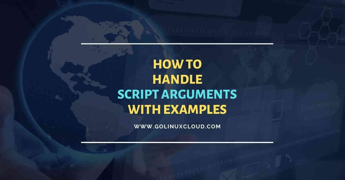 Beginners guide to use script arguments in bash with examples
