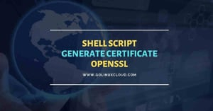 Shell script to generate certificate OpenSSL [Without prompt]