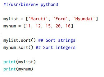 10+ examples on python sort() and sorted() function