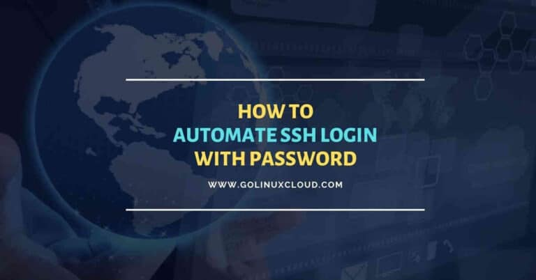 4 useful methods to automate ssh login with password in Linux