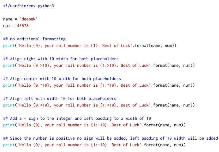 10+ simple examples to use Python string format in detail