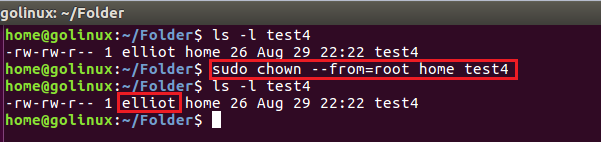 chown command to change owner only if the current owner is a specific user