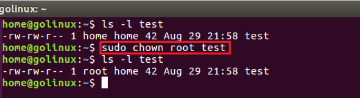 chown command to change owner of a file