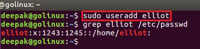 useradd command to create a new user
